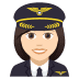 👩🏻‍✈️ woman pilot: light skin tone Emoji on Joypixels Platform