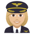 👩🏼‍✈️ woman pilot: medium-light skin tone Emoji on Joypixels Platform