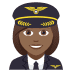 👩🏾✈️ woman pilot: medium-dark skin tone Emoji on Joypixels Platform