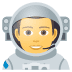 👨🚀 man astronaut Emoji on Joypixels Platform