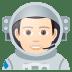 👨🏻🚀 man astronaut: light skin tone Emoji on Joypixels Platform