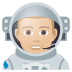👨🏼‍🚀 man astronaut: medium-light skin tone Emoji on Joypixels Platform