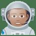👨🏽🚀 man astronaut: medium skin tone Emoji on Joypixels Platform