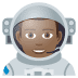 👨🏾‍🚀 man astronaut: medium-dark skin tone Emoji on Joypixels Platform