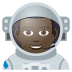 👨🏿🚀 man astronaut: dark skin tone Emoji on Joypixels Platform
