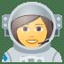 👩🚀 woman astronaut Emoji on Joypixels Platform