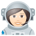 👩🏻‍🚀 woman astronaut: light skin tone Emoji on Joypixels Platform