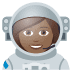 👩🏾‍🚀 woman astronaut: medium-dark skin tone Emoji on Joypixels Platform