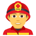 👨‍🚒 man firefighter Emoji on Joypixels Platform