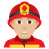 👨🏼‍🚒 man firefighter: medium-light skin tone Emoji on Joypixels Platform