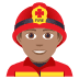 👨🏽‍🚒 man firefighter: medium skin tone Emoji on Joypixels Platform