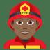 👨🏾🚒 man firefighter: medium-dark skin tone Emoji on Joypixels Platform
