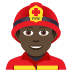 👨🏿‍🚒 man firefighter: dark skin tone Emoji on Joypixels Platform