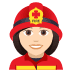 👩🏻‍🚒 woman firefighter: light skin tone Emoji on Joypixels Platform