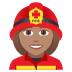 👩🏽‍🚒 woman firefighter: medium skin tone Emoji on Joypixels Platform
