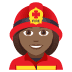 👩🏾‍🚒 Medium Dark Skin Tone Female Firefighter Emoji on JoyPixels Platform