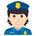 👮🏻 police officer: light skin tone Emoji on Joypixels Platform