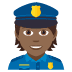 👮🏾 police officer: medium-dark skin tone Emoji on Joypixels Platform