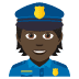 👮🏿 police officer: dark skin tone Emoji on Joypixels Platform