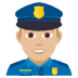 👮🏼‍♂️ man police officer: medium-light skin tone Emoji on Joypixels Platform