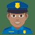 👮🏽♂️ man police officer: medium skin tone Emoji on Joypixels Platform