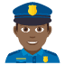 👮🏾‍♂️ man police officer: medium-dark skin tone Emoji on Joypixels Platform