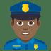 👮🏾♂️ man police officer: medium-dark skin tone Emoji on Joypixels Platform