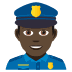 👮🏿‍♂️ man police officer: dark skin tone Emoji on Joypixels Platform
