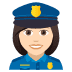 👮🏻‍♀️ woman police officer: light skin tone Emoji on Joypixels Platform