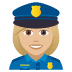 👮🏼‍♀️ woman police officer: medium-light skin tone Emoji on Joypixels Platform