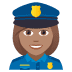 👮🏽‍♀️ woman police officer: medium skin tone Emoji on Joypixels Platform