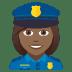👮🏾♀️ woman police officer: medium-dark skin tone Emoji on Joypixels Platform