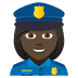 👮🏿♀️ woman police officer: dark skin tone Emoji on Joypixels Platform