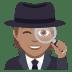 🕵🏽 detective: medium skin tone Emoji on Joypixels Platform