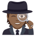 🕵🏾 detective: medium-dark skin tone Emoji on Joypixels Platform