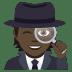 🕵🏿 detective: dark skin tone Emoji on Joypixels Platform