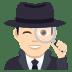 🕵🏻♂️ man detective: light skin tone Emoji on Joypixels Platform