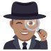 🕵🏽‍♂️ man detective: medium skin tone Emoji on Joypixels Platform