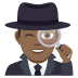 🕵🏾‍♂️ man detective: medium-dark skin tone Emoji on Joypixels Platform