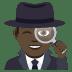🕵🏿♂️ man detective: dark skin tone Emoji on Joypixels Platform