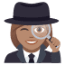 🕵🏽‍♀️ woman detective: medium skin tone Emoji on Joypixels Platform