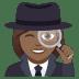 🕵🏾♀️ woman detective: medium-dark skin tone Emoji on Joypixels Platform