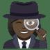 🕵🏿♀️ woman detective: dark skin tone Emoji on Joypixels Platform