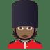 💂🏾 guard: medium-dark skin tone Emoji on Joypixels Platform