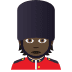 💂🏿 guard: dark skin tone Emoji on Joypixels Platform