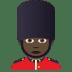 💂🏿♂️ man guard: dark skin tone Emoji on Joypixels Platform