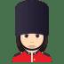💂🏻♀️ woman guard: light skin tone Emoji on Joypixels Platform