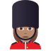 💂🏽♀️ woman guard: medium skin tone Emoji on Joypixels Platform