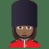💂🏾♀️ woman guard: medium-dark skin tone Emoji on Joypixels Platform