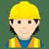 👷🏻 construction worker: light skin tone Emoji on Joypixels Platform